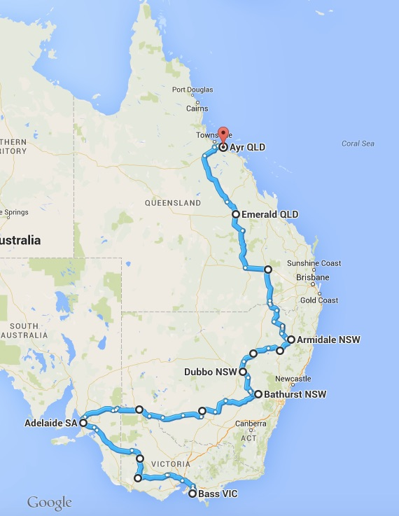 18 days, 5,407Km & 13 music ministry events