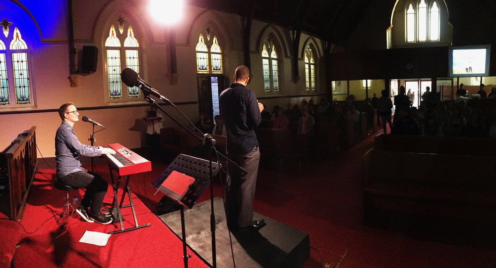 Singing at 'Your Church' in Brisbane, QLD, Australia