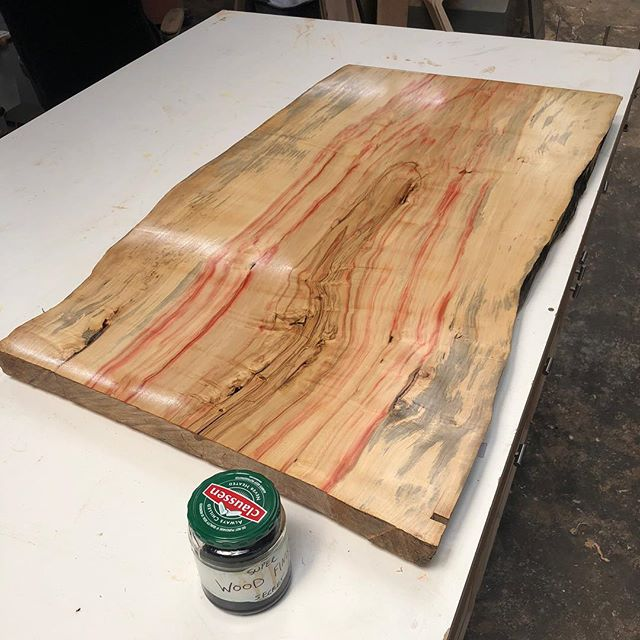 A picture of the slab that was being flattened in the pervious post! It turned out great!  #woodworking #slabtable #interiordesign #cincinnati #woodshop #furniture
