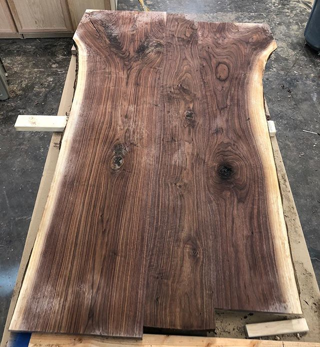 Large walnut table in the works!  #woodworking #dinningroom #wood #table #covington