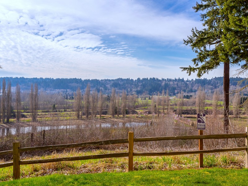 PICTURED ABOVE: Panoramic views of the Sammamish River Valley