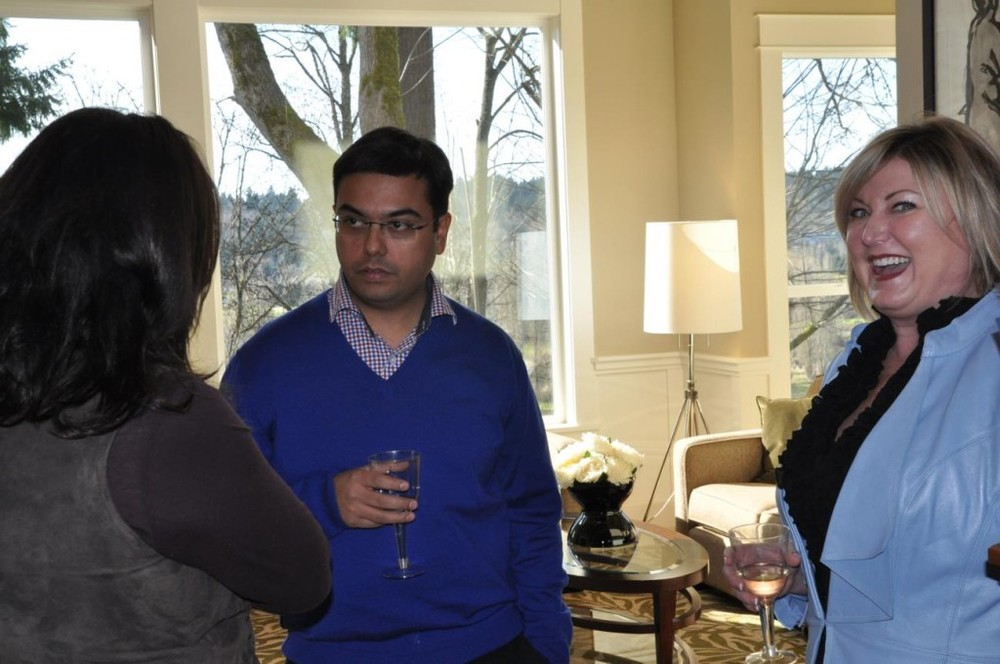 PICTURED ABOVE: RSIR Broker Jodi Long entertains Ankit Tyagi, co-founder of North India Sotheby's International Realty.