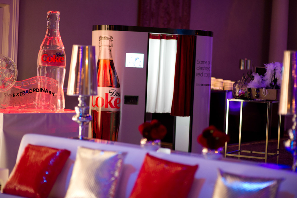 Coca~Cola Photo Booth Rental Branding