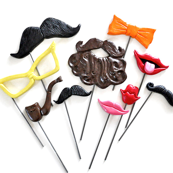 Some of the new props-on-a-stick which you will be seeing at our Toronto Photo Booth rentals.