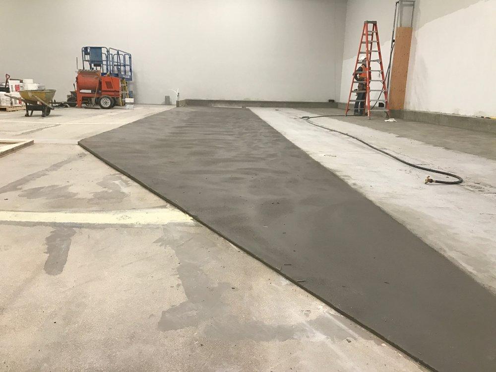 more floor sloping