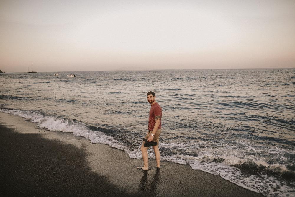 Richard on Parissa beach.