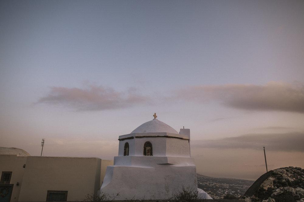 Santorini church near perissa