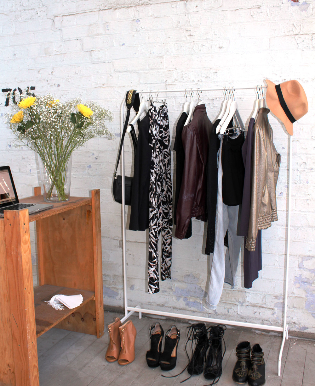 On the rack - Emme : Disel Style Lab : Gorman :Kookai : Sass & Bide : Siren Shoes : Sportsgirl :Toni Bianco : Vintage vinyl maroon jacket : Windsor Smith : Zara