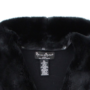 Mercer And Madison Black Cardigan Faux Fur Collar Size Petite
