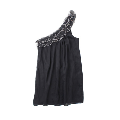 Wayne By Wc One Shoulder Black Grecian Dress Size 10 The Opmarket