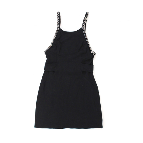 Alice Mccall Black Sleeveless Fitted Dress With Chain Detailing