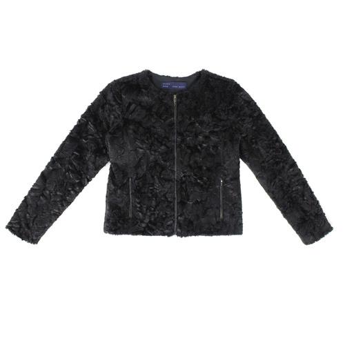 3e0df711 EL000849M_front zipped copy.jpg. ZARA Black faux fur box style evening  jacket ...
