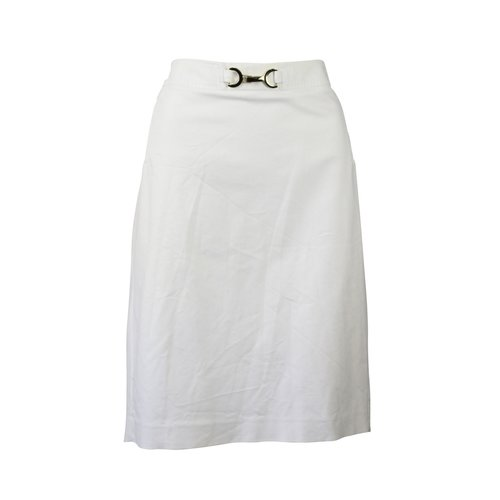 White stretch pencil skirt - Size 14 — The OpMarket