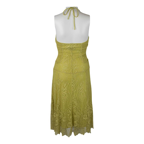 Seduce Yellowlime Green Dress The Opmarket