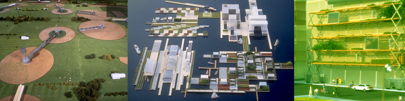 Projects or reversible urbanization systems developed in the Domus Academy Design Master Project