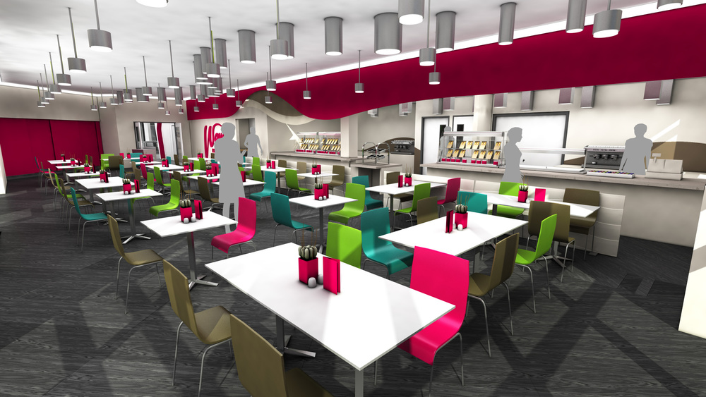 Architectural 3D - South Essex College Cafe