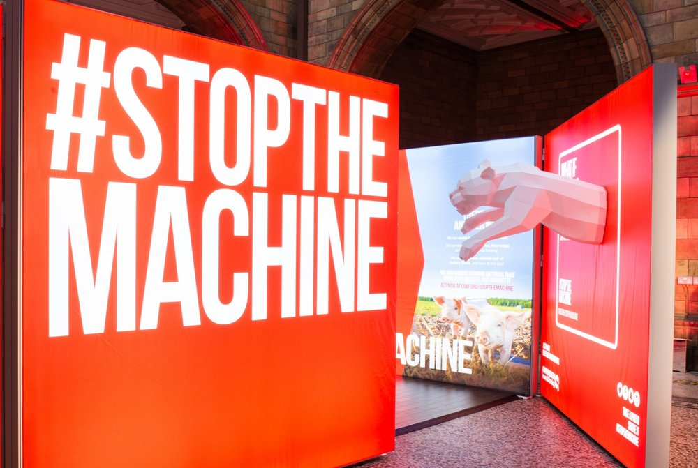 A one meter long, life-sized Jaguar sculpture for the campaign #stopthemachine in London.