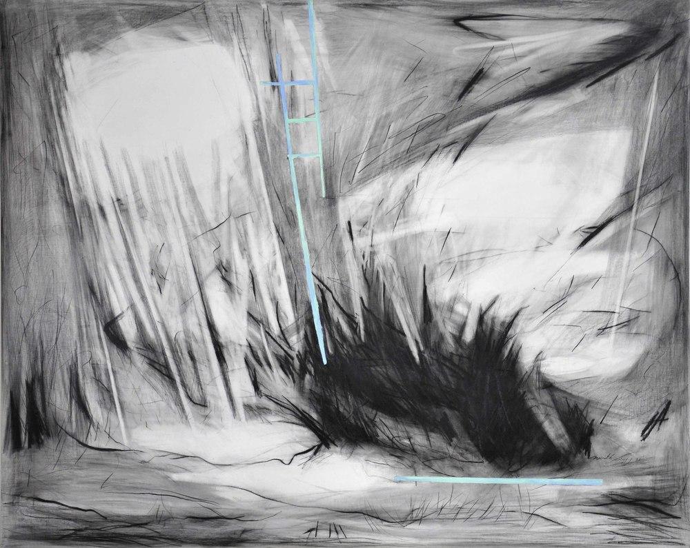 Blyant og olie på lærred 80 x 100 cm
