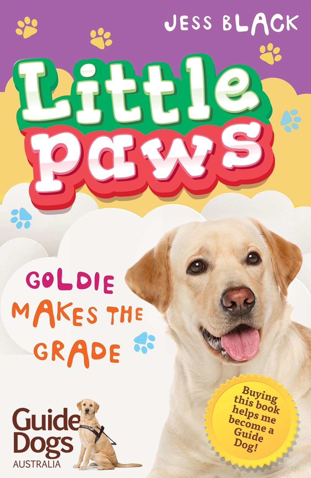 Guide Dog puppy Goldie has been with the Agresta family since she was eight weeks old. Now she's nearly fourteen months and it's almost time for her to leave and begin her final Guide Dog training. Abby is so proud of Goldie and is determined to make the most of the time they have left together. But when some cupcakes that Abby's mum has made for the school charity day go missing, it looks like Goldie is the most likely culprit! Can Abby clear Goldie's good name?