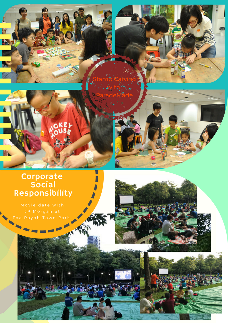 CSR activity with JP Morgan and Workshop