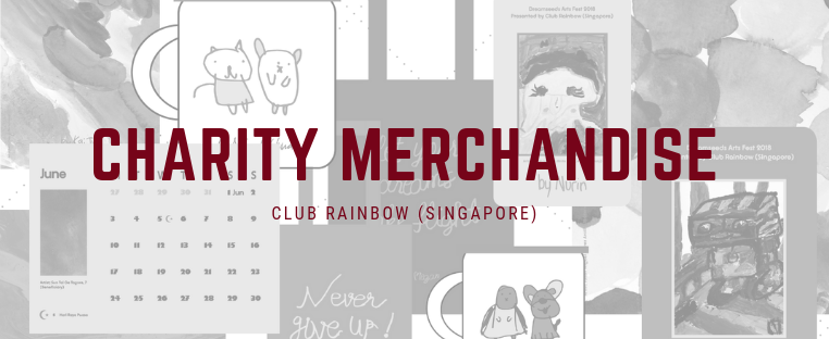 Our inaugural charity merchandise sales aims to raise funds to support a wide variety of programmes and services which Club Rainbow (Singapore) offers to beneficiaries and their families. We are proud to present a range of merchandise inspired by artworks of participating beneficiaries who underwent months of immersive training in visual arts.  By making a meaningful purchase, you can help to instill confidence and pride in these children and youths, and empower them to lead an enriching life, despite their personal challenges.