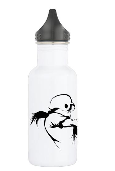 Girl Softball Hitter Stainless Steel Water Bottle