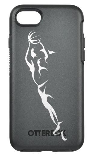 Woman Basketball Layup OtterBox Symmetry iPhone Case