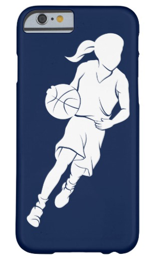 Basketball Girl Dribbling Barely There iPhone Case