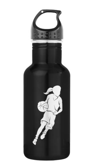 Basketball Girl Dribbling Water Bottle