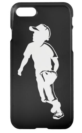 Youth League Baseball Fielder iPhone Case