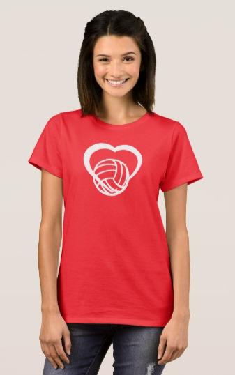 Volleyball Heart T-Shirt