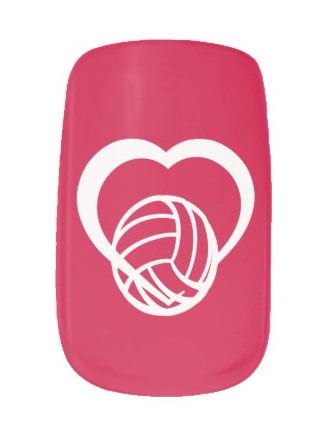 Volleyball Love Minx Nail Wraps
