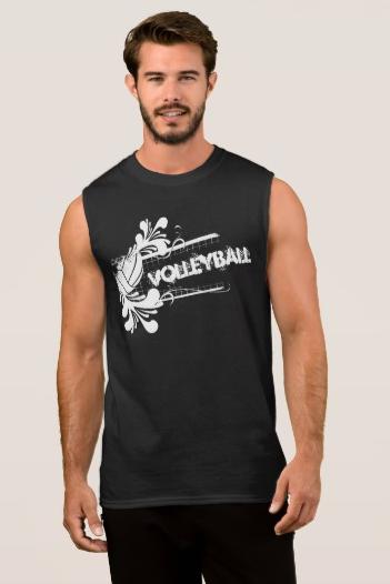 Volleyball Splash Flourish Sleeveless Shirt