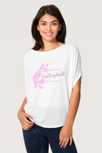 Volleyball Splash Flourish T-Shirt