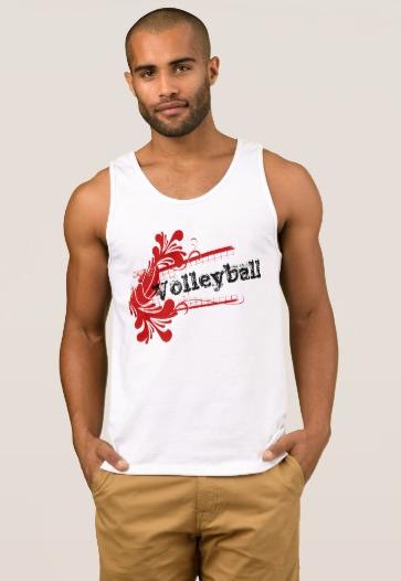 Volleyball Splash Flourish Tank Top