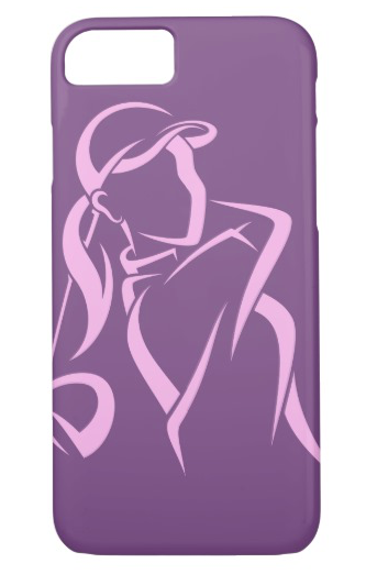 Girl Golfer Teeing Off Phone Case