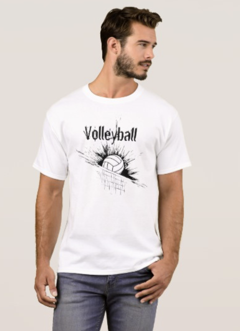 Volleyball Splatter Net T-Shirt