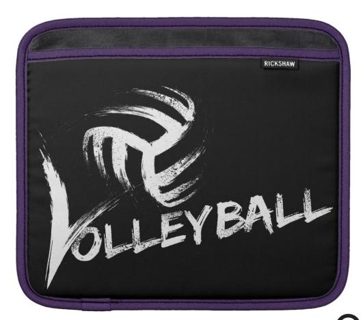 Volleyball Grunge Streak iPad Sleeve
