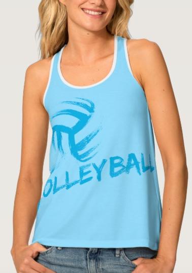 Volleyball Grunge Streaks Tank Top
