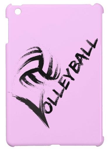 Volleyball Grunge Streak ipad mini case