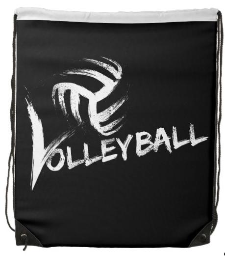 Volleyball Grunge Streaks Drawstring Bag