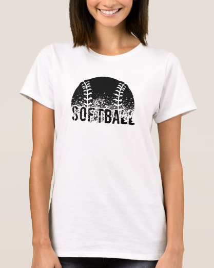 Grunge Softball Women's T-shirt