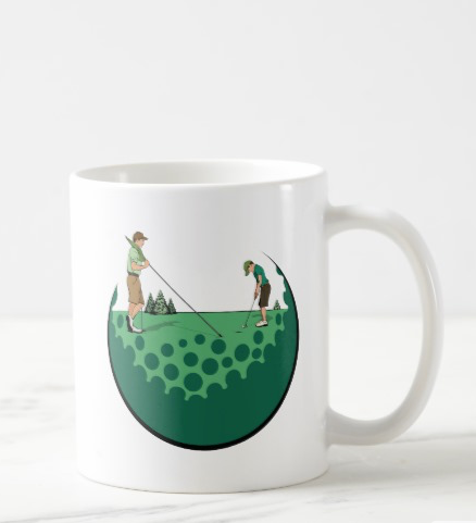 Father & Son On Putting Green Coffee Mug