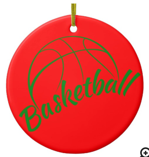 Basketball Fun Text Ceramic Ornament