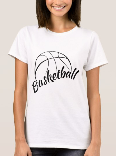 Basketball Stylized Design with Fun Font T-Shirt