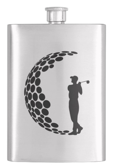 Golfer G Hip Flask