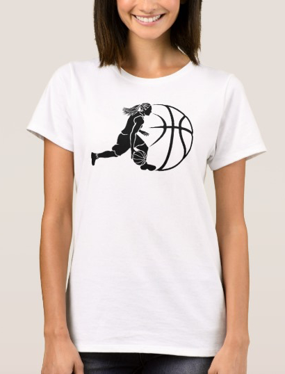 Girl Basketball Silhouette T-Shirt