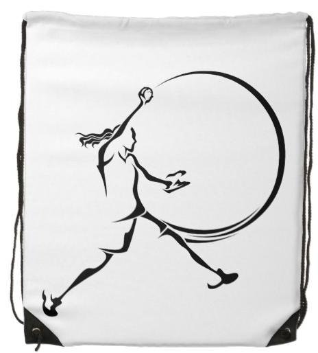 Softball Pitcher Drawstring Bag
