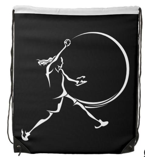 Softball Pitcher Drawstring Backpack