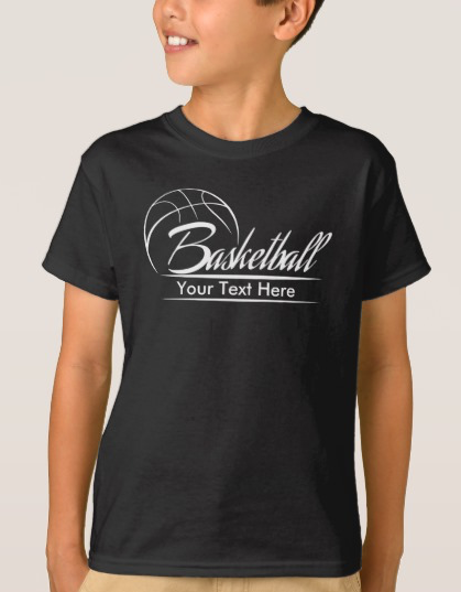 Basketball Banner with Your Text T-Shirt